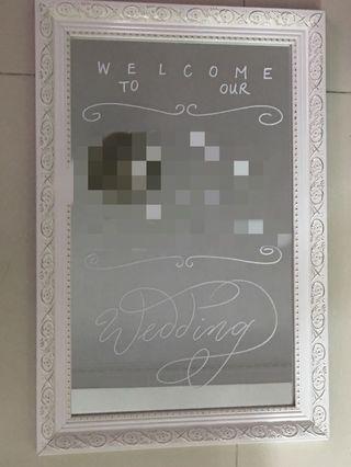 婚禮welcome board鏡