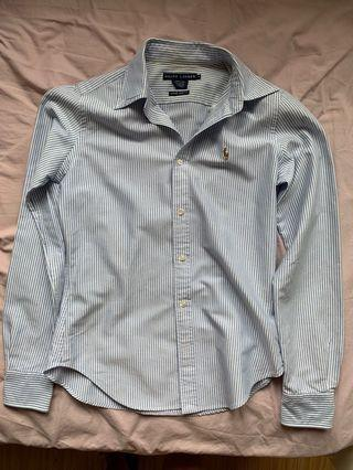 Polo Ralph Lauren blue striped shirt