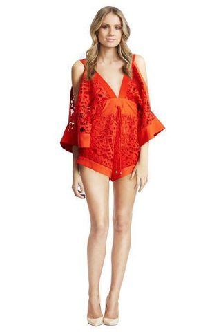 BRAND NEW Alice McCall Keep Me There Playsuit Dupe/Inspired Romper in Orange