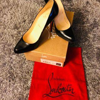 Authentic Christian  Louboutin Décolleté Jazz Calf ( black ) 38.5
