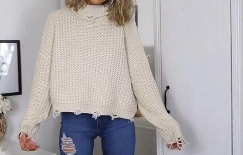Distressed oversized knit / jumper