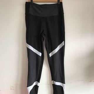 Black white and grey athletic leggings
