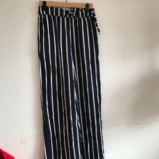 Blue and white striped flowy pants!