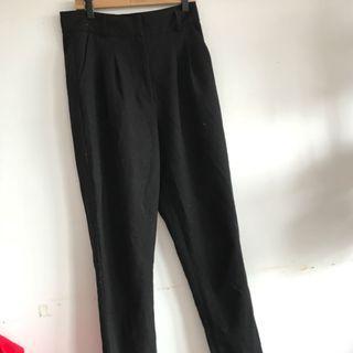 Black high waisted cigarette pants