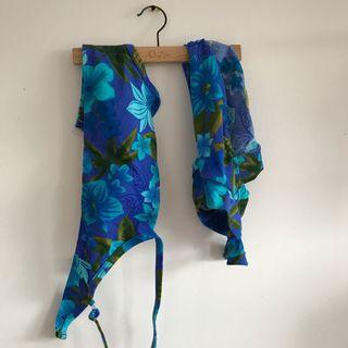 Vintage blue high waisted bikini