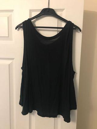 Black Tank Top from Brandy Melville