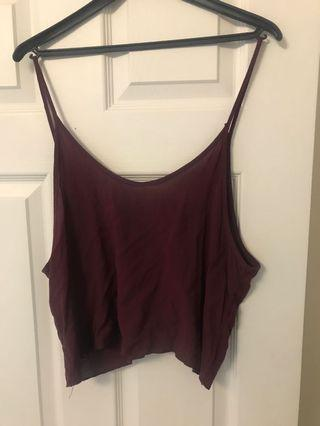 Maroon Loose Tank Top from Brandy Melville