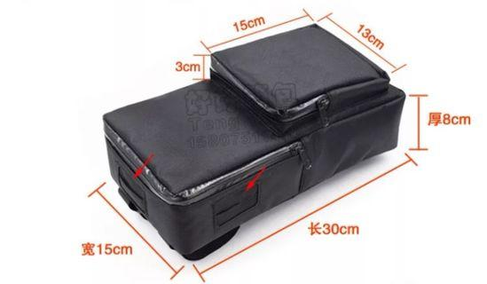 Battery bag with small pouch 30x15x8 cm