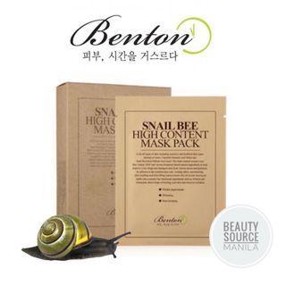 BENTON SNAIL BEE HIGH CONTENT MASK SHEET