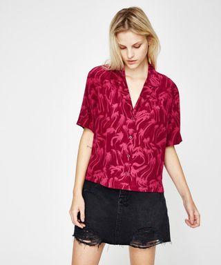 Ksubi Silk Acid Vacay Shirt Top - Size XS/8 RRP $150