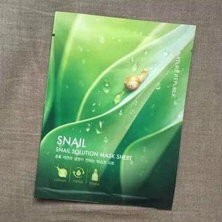 Nature Republic Snail Solution Mask Sheet original korea