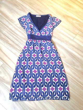 60s style pattern dress
