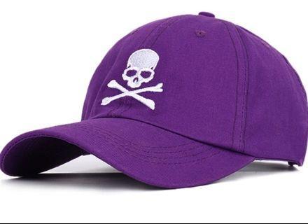 🚚 全新紫色骷髏棒球帽