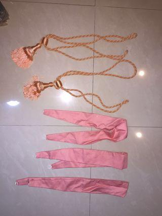 Curtain ribbons and ties