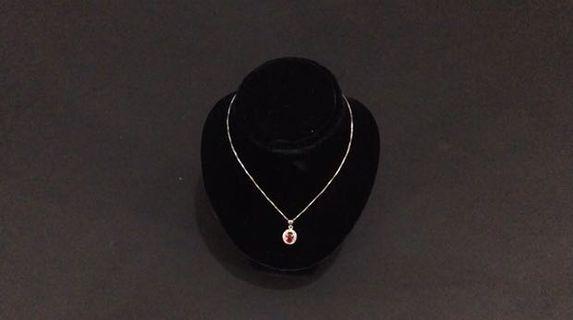 🚚 Krystle Hung洪婕玓:鑲鑽原萃單顆紅寶石項鍊