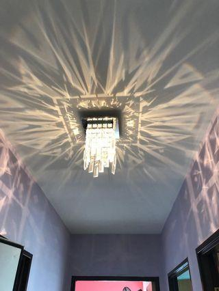 Ceiling crystal lights