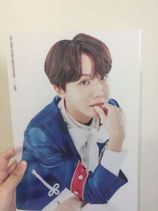 [RARE] BTS 5th Term Membership Jhope Transparent A4 Poster