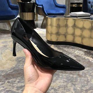 Patent black heels