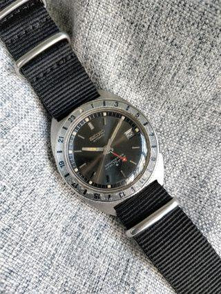 Rare Vintage Seiko 6117-8000 8009 Pumpkim Lume GMT