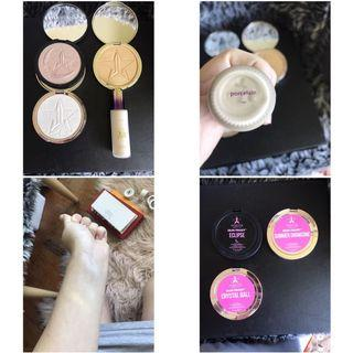 Highlighters and foundation