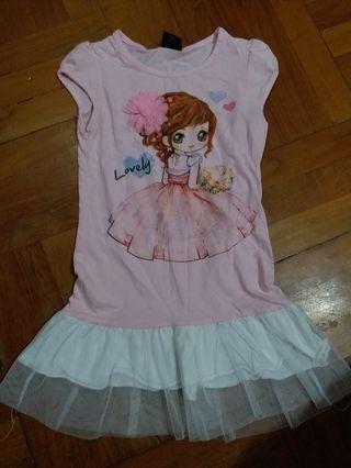2-4歲 女童 女孩 公主 連身裙 one piece dress