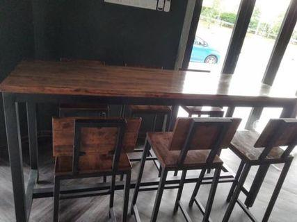 Dinning Table Bar With Stool