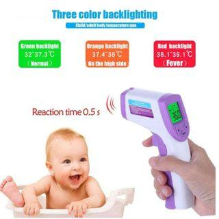 Non-Contact Handheld Infra Digital LCD Thermometer for Body/Surface (Purple)