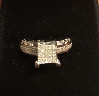 925 SS Diamond Ring