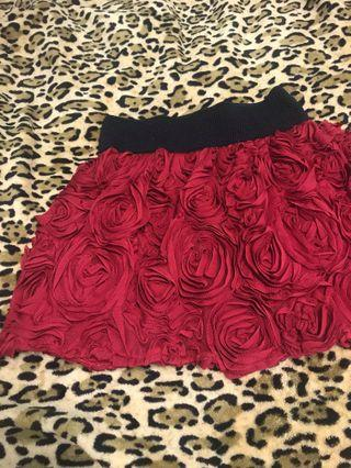 Rose skirt 🌹red ! 紅色半截裙!超靚 🇯🇵🇯🇵🇯🇵JAPAN 日本