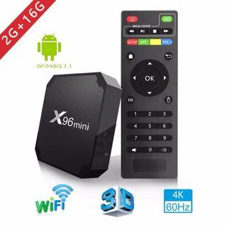 X96mini tv box android 7.1 smart tv WiFi 4K 2GB 16GB Amlogic