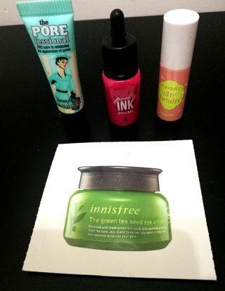 Innisfree Sample + make up testers