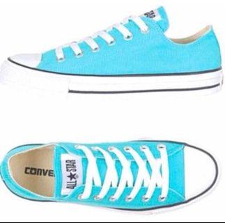 Turquoise Converse Shoes