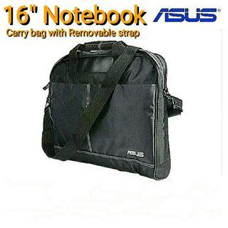"""[Brand New] 16"""" Notebook Carry Bag with Removal Strap For All Notebook Of SiZe Up To 16"""". (Brand ASUS) Model: 90-xb4000ba00020. (Brand new in sealed plastic pack) Usual Price: $29.90 Now: $14.90."""