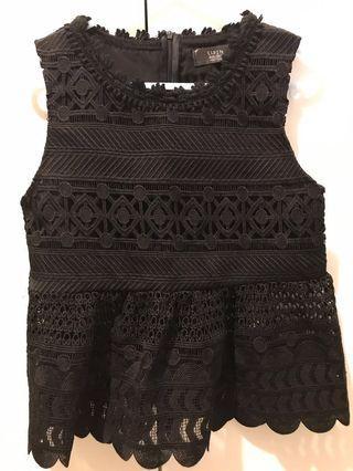 Brand new Korean Style Black Lace Tank Top