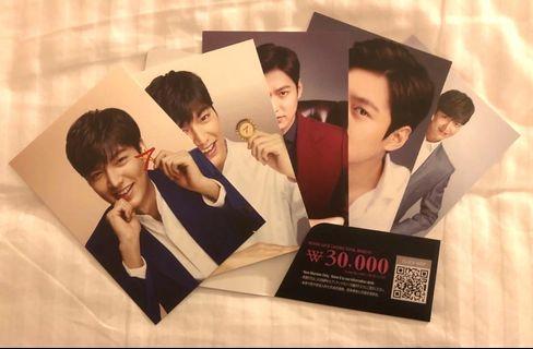 韓國李敏鎬x seven star 官方 postcard 一套五張 包平郵
