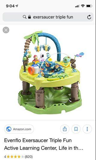 Evenflo Exersaucer Triple Fun (for different stages)