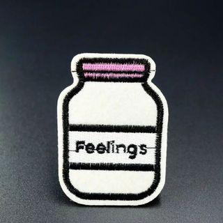 #812 feelings bottle tumblr iron on patch | po