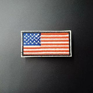 #814 american usa flag tumblr Iron On Patch | po