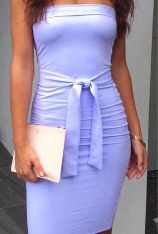 Strapless blue kookai dress