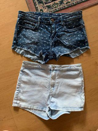 Original Preloved H&M Denim Short (Sold as Set) Free shipping