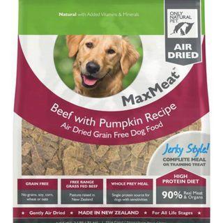 MaxMeat - Beef with Pumpkin Recipe (Air Dried Grain Free Dog Food)