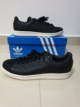 78db052b3954e 50% OFF NEW Authentic Adidas Originals Stan Smith Premium Black US9   UK8.5