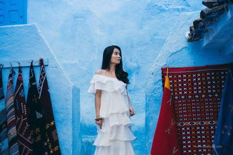Valencia White Layer Dress