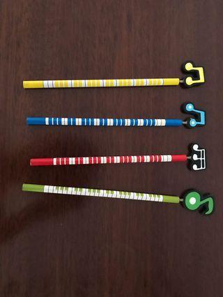 🚚 Musical Notes Pencil Set