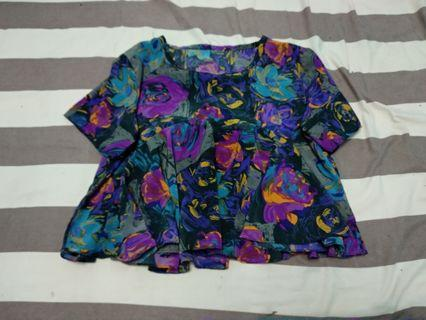 Atasan blouse baju flower