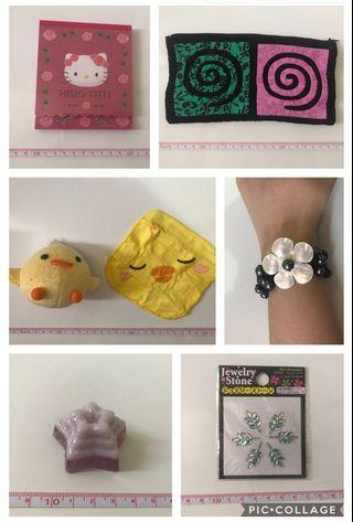 🚚 Hello Kitty Notebook. Pencil case. Handmade soap. Coin pouch. Napkin. Stud sticker. Bracelet