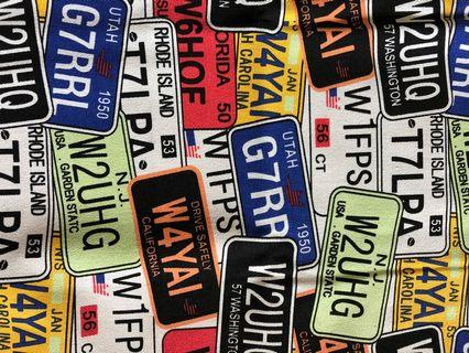 License plate canvas material