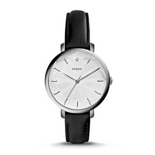 🚚 FOSSIL INCANDESA BLACK LEATHER WATCH