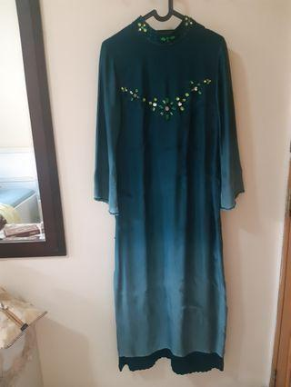Long Dress Toska Ombre Style