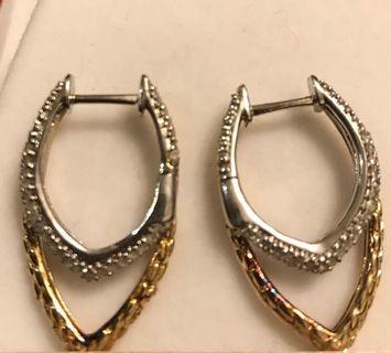 white Gold / Gold Diamond Earings